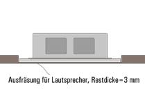 Einbau von unsichtbaren Lautsprechern in Möbel, MDF oder HDF Platten