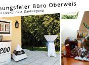 Rückblick: Eröffnungsfeier Büro Schloss Oberweis