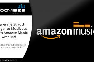 Jetzt auch Amazon Music integrierbar!