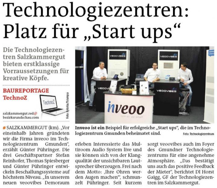 """inveoo ist ein Beispiel für erfolgreiche """"Start ups"""", die im Technologiezentrum Gmunden beheimatet sind"""