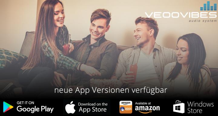 """neue App für unser Multiroom Audio System """"veoovibes"""" verfügbar"""